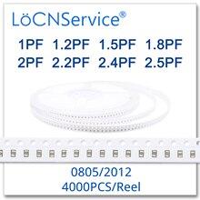 LoCNService 커패시터 4000PCS 0805 2012 COG/NPO RoHS 50V 0.25% 0.5% 1PF 1.2PF 1.5PF 1.8PF 2PF 2.2PF 2.4PF 2.5PF 고품질
