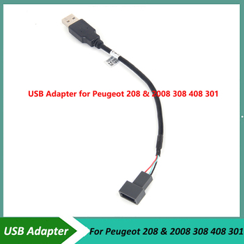 USB Adapter Connector for Peugeot 208 & 2008 308 408 301 OEM Car Radio GPS Audio KEEP Original USB Function image