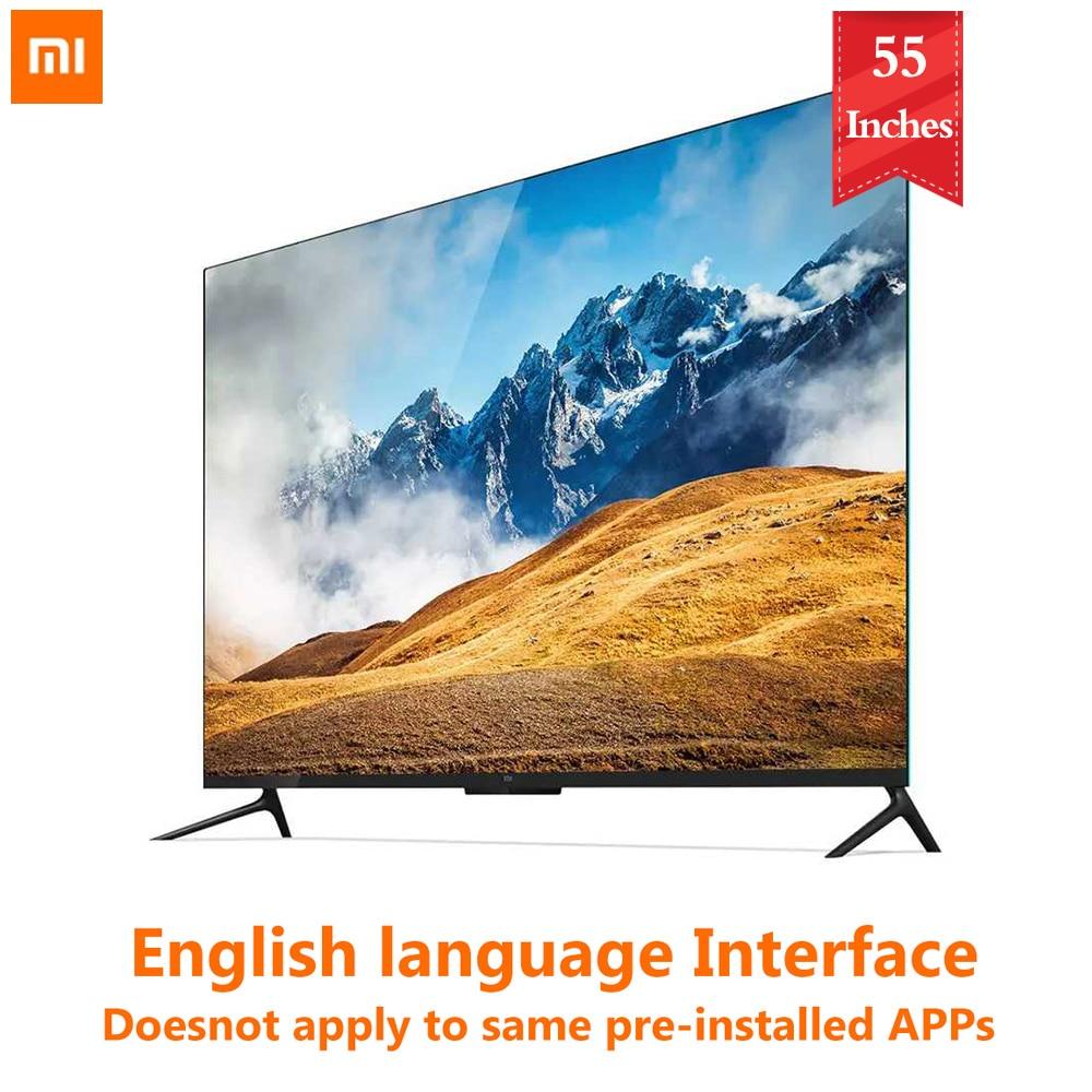 Xiaomi tv 4 55 polegadas 4k smart, ultra fina, tv com suporte de parede e desktop ultra estreita, moldura de metal smart tv 2gb 8gb