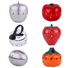Cartoon Kitchen Timer 60 Minute Countdown Timer Creative Fruit Vegetable Shape Cooking Timer Reminder Kitchen Tools
