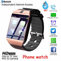 Neueste DZ09 Bluetooth Smartphone Uhr Männer Frauen Kamera Sim Slot TF Karte Call Wasserdichte Männer Uhr Android Und IOS system