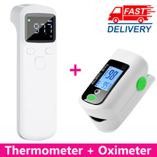 Saturation Monitor Oximeter Digital-Thermometer Heart-Rate-Meter Finger-Clip Oxygen Forehead