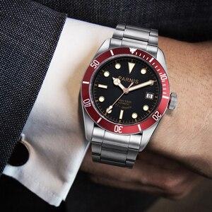 Image 4 - Parnis relógio masculino de pulso, 41mm, miyota, movimento mecânico automático, aço inoxidável, luminoso, marca de luxo, sapphire, cristal, relógio de pulso, homens
