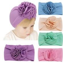 2021 Цветочные зимние шапки для детей теплые тюрбан головные