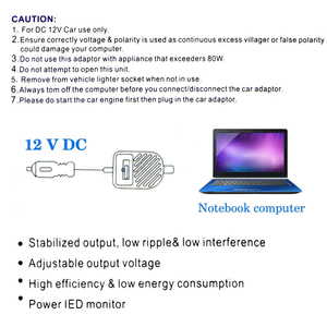 Image 3 - Universal Auto 80W Power LED Auto Auto Ladegerät Einstellbare Netzteil Adapter Set 8 Abnehmbare Stecker Für Laptop Notebook
