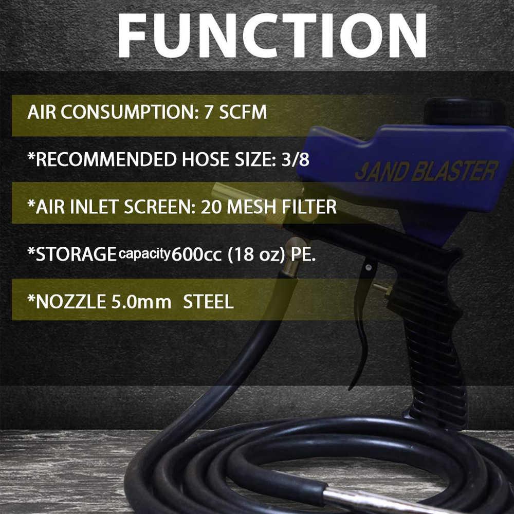المحمولة ساندبلاستر محرك مسدس الوشم مع الجاذبية سيفون تغذية في واحد لإزالة الصدأ الطلاء الترابية أدوات الهواء آلات الرش