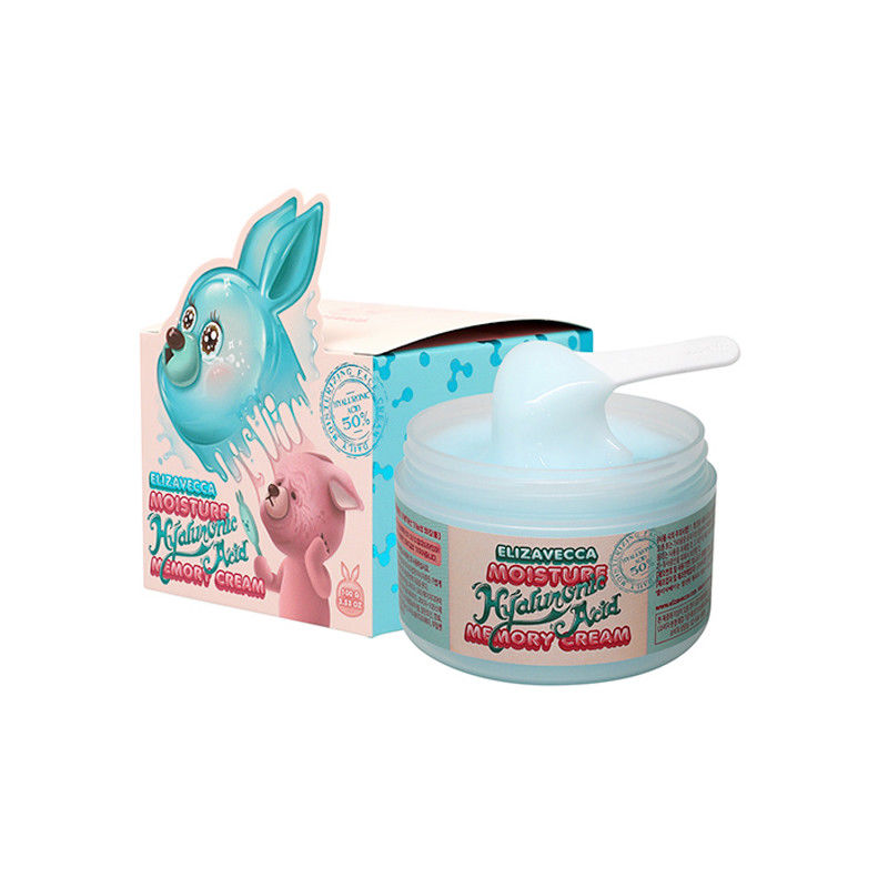 Elizavecca Moisture Hyaluronic Acid Memory Cream 100g Facial Moisturizing Cream Anti-aging Whitening Face Cream Korea Cosmetics