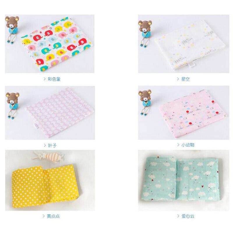 Купить с кэшбэком Baby Muslin Wraps Infant Baby Wash Cloth Bath Towel Swaddling  Blanket for StrollerCotton 115*115cm Kids Bedding