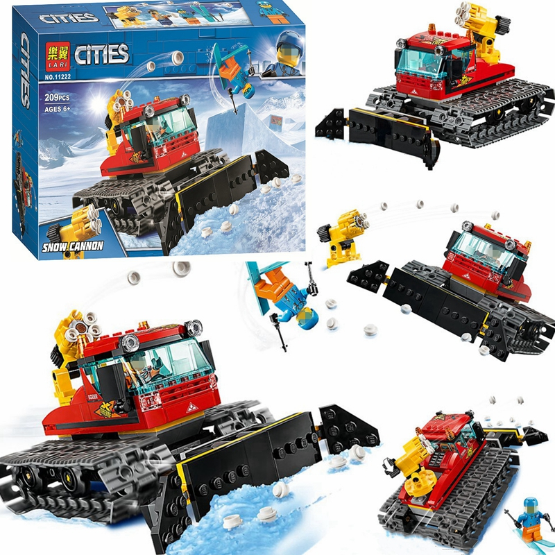 New City Snow Groomer Buildings Blocks Bricks LEPINS 02124 60222 City Urban Sets Toys For Kids Gift With Figures Building