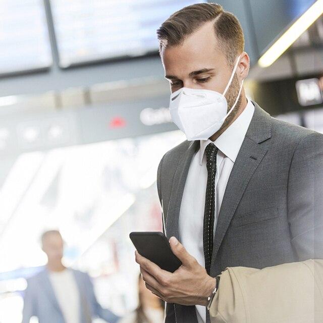 10PCS Reusable N95 Mask Anti Virus Flu Anti Infection KN95 Mouth Masks Protective Face Masks Same as KF94 FFP2 Breathing Masks 2