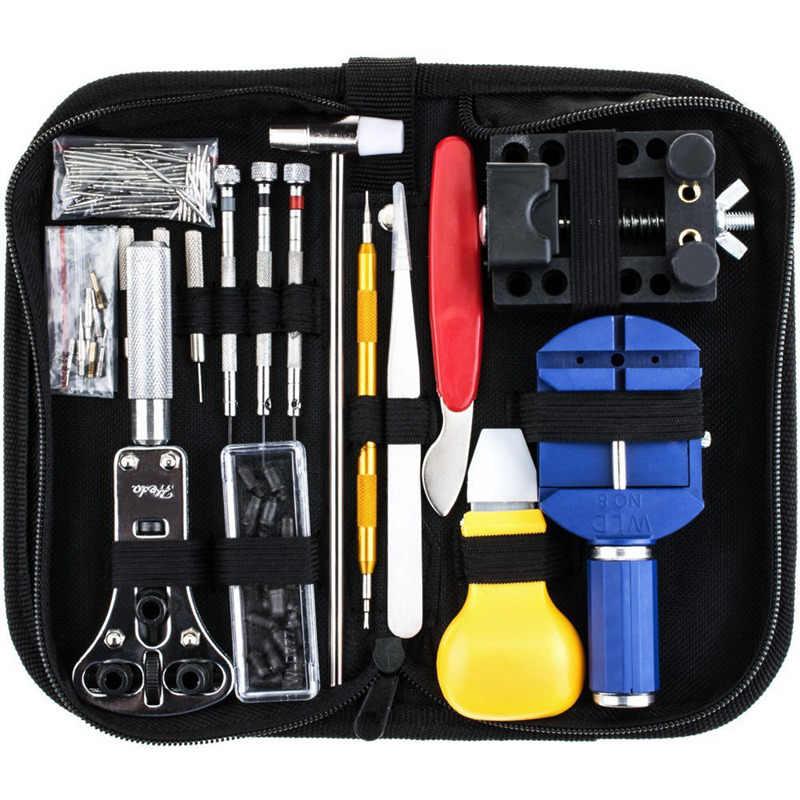 147 pçs assistir kit de ferramentas reparo com estojo de transporte profissional assista abridor pino link removedor barra instrumentos conjunto