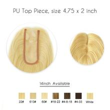 WIGS Topper-Hairpieces Human-Hair Virgin Toupee Women for 40g/pc 5x12cm Pu-Base Cuticle