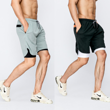 Nowe szorty męskie sportowe szorty do biegania 2 w 1 dwupokładowa szybkoschnąca sportowe szorty treningowe męskie letnie spodenki gimnastyczne Fitness Jogging tanie tanio LINLING CN (pochodzenie) Poliester spandex Bieganie Pasuje prawda na wymiar weź swój normalny rozmiar 9904 Stałe