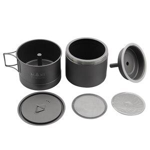 Image 2 - TOAKS MAXI Titanium Moka Stovetop cafetera Espresso olla ultraligera al aire libre conveniente mocha Pot