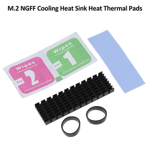1Set For M.2 NGFF NVMe 2280 PCIE SSD Aluminum Cooling Heat Sink With Thermal Pad