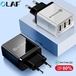 Image 1 - Olaf USB Charger quick charge 3.0 for iPhone X 8 7 iPad Fast Wall Charger for Samsung S9 S20 Xiaomi mi 10 9 Mobile Phone Charger