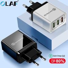 Olaf cargador USB de carga rápida para móvil, cargador de pared para iPhone 3,0 rápido X, 8, 7, iPad, Samsung S9, S20, mi Xiaomi 10, 9