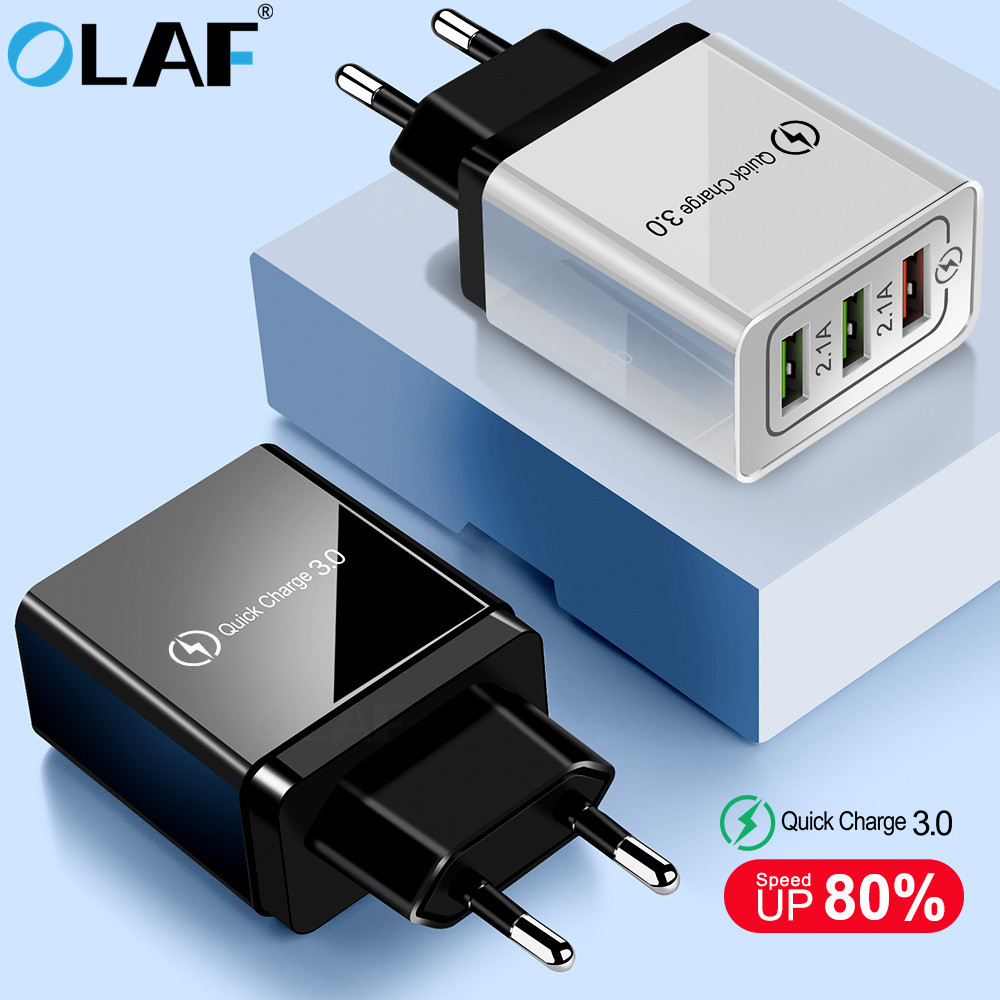 Olaf USB Charger quick charge 3.0 for iPhone X 8 7 iPad Fast Wall Charger for Samsung S9 S20 Xiaomi mi 10 9 Mobile Phone Charger image
