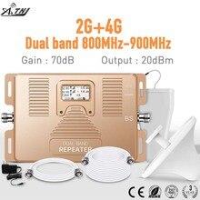 Double bande 2G + 4G LTE 800MHz/ GSM 900MHz 2g 4g kits de signal mobiles intelligents amplificateur de signal cellulaire 2g 4g Kit de répéteur