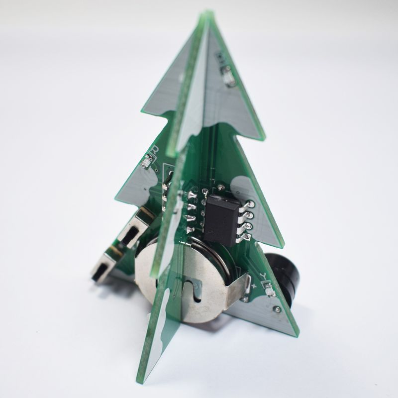 <font><b>3D</b></font> Mini <font><b>PCB</b></font> Stereo Christmas Tree DIY Music Kit Circuit Electronic DIY Kits Gift image