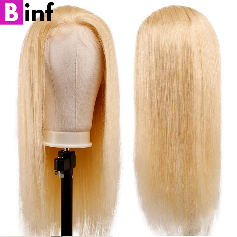 BINF 613 Lace Front Wig Brazilian Straight Remy Human Hair Wigs Natural Hairline With Baby Hair 13x4 Lace Front Human Hair Wigs image