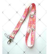 new 1pcs cartoon Marie Cat Key Lanyards Badge DIY ID Cards Holders Neck Straps with Keyring Gifts Party Favors(China)