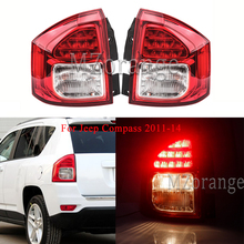 цена на For Jeep Compass 2011-14 Rear Tail lights MIZIAUTO 1PCS Left/Right Rear Bumper Light Brake Light taillights assembly Fog lamp
