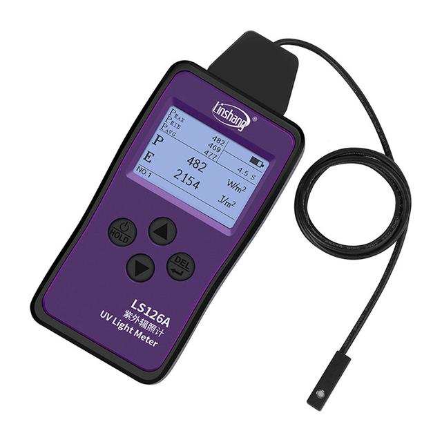 LS126A światło ultrafioletowe miernik promieniowania UV Ultra mała sonda do pomiaru intensywności i energii źródła światła UVA tanie i dobre opinie IKEATOL