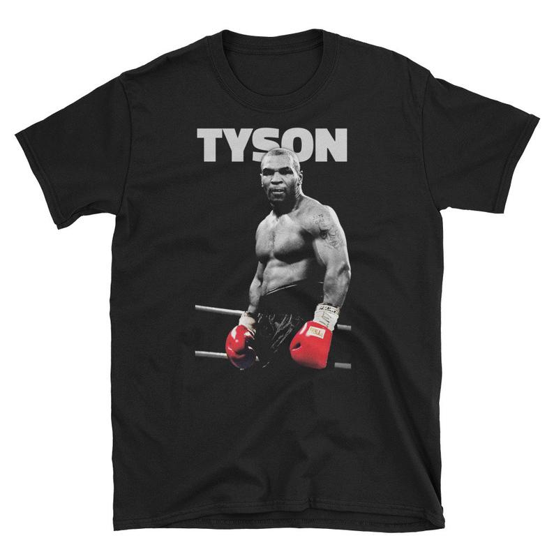 Mike Tyson Boxer Everyone Has A Plan T-Shirt Black Cotton Men S-6XL Shirt