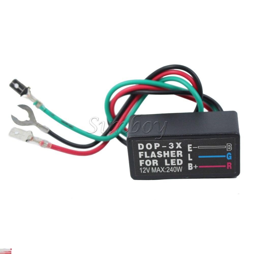 Relais pour clignotant FLASHER LED de Moto Scooter 12V