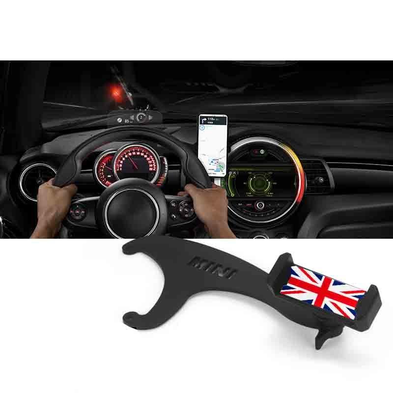 Otomobiller ve Motosikletler'ten Araba Çıkartmaları'de MINI Cooper için R60 R61 R55 R56 F54 F55 F56 F57 F60 akıllı cep telefonu kupası dağı tutucu dönebilen telefon gps tutucu title=