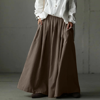 Elastic Waist Wide-Leg Trousers ZANZEA Women Summer Loose Pleated Pants Casual Plain Hose Oversized Plus Size Pantalon Palazzo 19