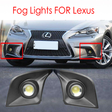 Lexus IS200T IS250 IS300 IS350 F Sport 2014 2016 foglights 안개등 헤드 라이트 헤드 라이트 DRL 커버 프레임 용 LED 안개 조명