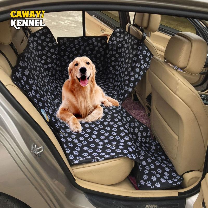 Cawayi canil portadores do cão à prova dwaterproof água traseira de volta pet cão capa assento do carro esteiras protetor rede com cinto segurança transportin perro