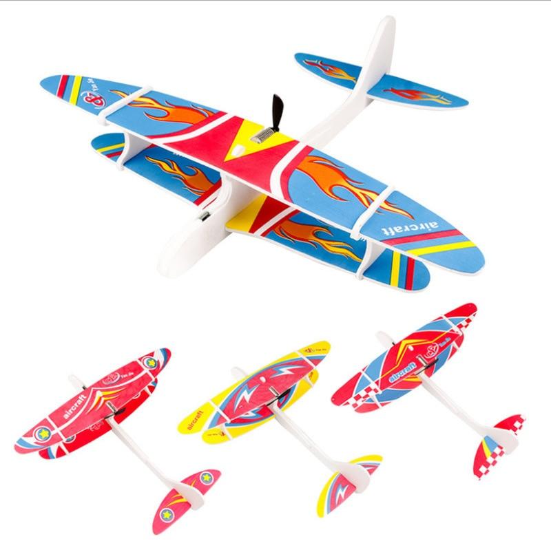 EVA пены ручной бросок самолет на открытом воздухе Старт планер Сделай Сам самолет детская игрушка в подарок, Прямая поставка