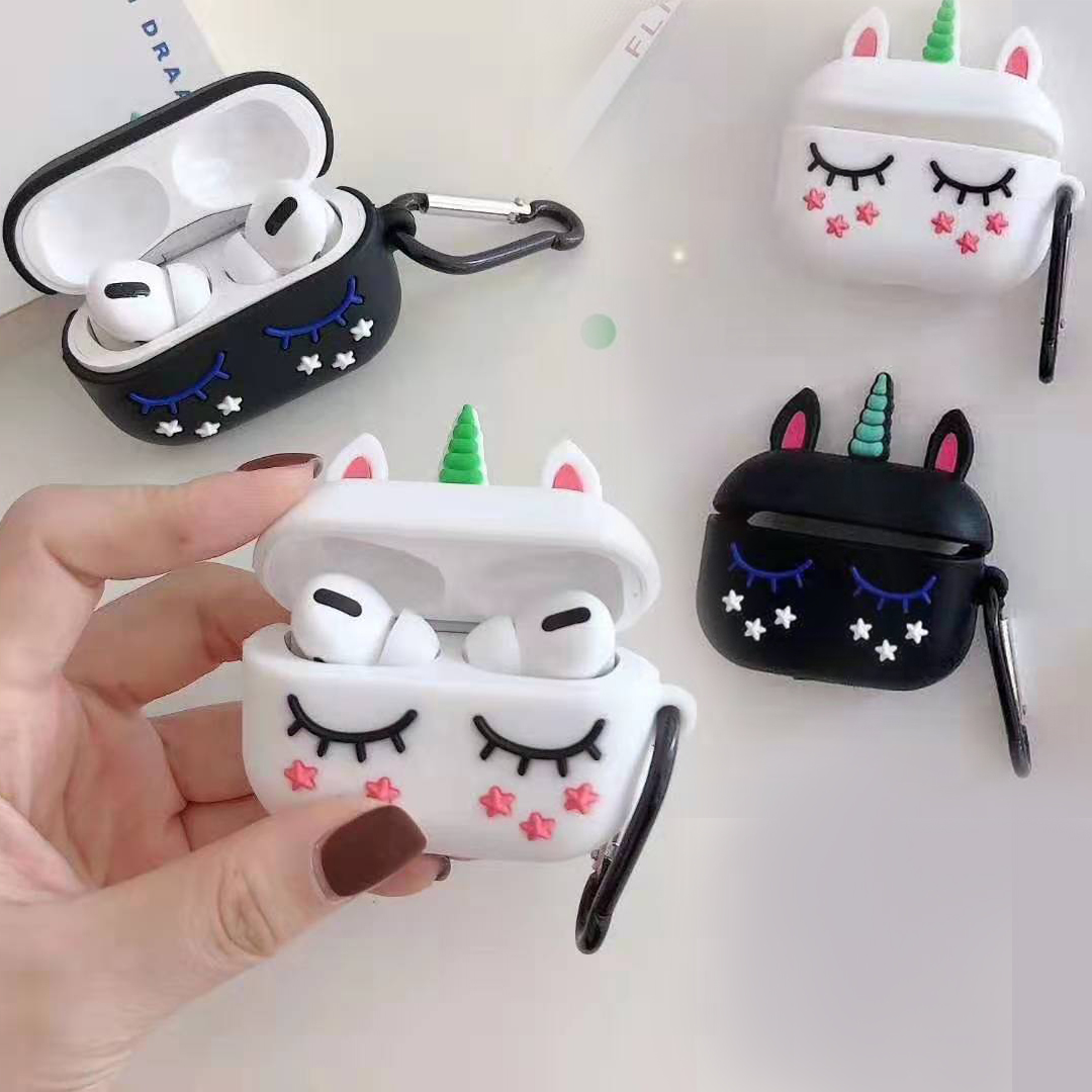 For Airpods 1/2 For Airpods Pro Case Cute Unicorn Cartoon Silicon Protective Cover For Air Pods Pro 3 Cover Funda Earphone Case