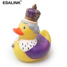 ESALINK 11 ซม.ของเล่นเด็กBathของเล่นลอยน้ำว่ายน้ำเป็ดยางเป็ดCrown Queenเป็ดเด็กของเล่นคอลเลกชันของเล่น