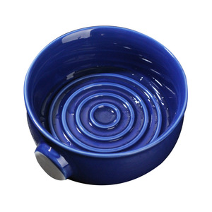 Image 1 - 2 Colors Ceramic Shaving Lather Bowl Thread Bottom Wide Mouth Man Wet Shaving Pottery Soap Cream Mug