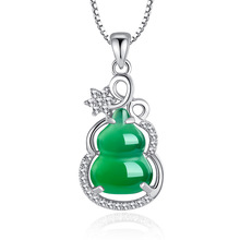 Real S925 Sterling Silver Necklace Pure Emerald Pendant Bizuteria Gemstone Silver 925 Jewelry Green Emerald Pendant for Women szjinao silver pendant for women real 925 sterling silver amethyst pendants necklace statement womens jewelry crystal gemstone