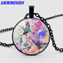 Hummingbird fashion high-grade glass pendant necklace classic retro men and women necklace(China)