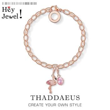 Pulsera de cadena de eslabones flamenco, 2020 Color oro rosa Europa accesorios de moda joyería moda 925 Sterling regalo de plata para mujer