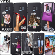 Phone Case Fashion Baby Mom Girl Queen Vogue For Samsung Galaxy S10 case S8 S6 S7 S9 J2 J3 J5 J7 J4 J6 J8 2018 Plus Etui Coque