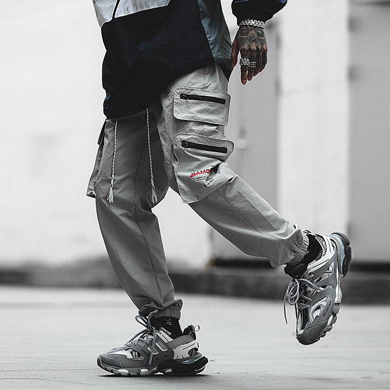 FUGOISM 2019 Drawstring Harem Hip Pop Pants Trousers Streetwear Sweatpants Hombre Male Casual Fashion Cargo Pants Men Joggers