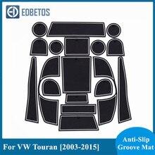Esteras con surcos para puerta para VW Touran MK1 2003, 2004, 2006, 2008, 2009, 2010, 2011, 2014, 2015 Anti-Slip Mat de puerta para la montaña rusa