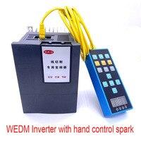 Frequência especial 1.5kw do conversor 220v do corte do fio do inversor de wedm com inversor da máquina da faísca do controle da mão