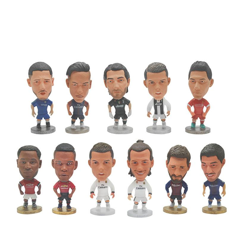 Soccer Europe Super Hot Soccer Star Player Action Figure Dolls 7cm Football Model Toys Dolls Messi Ronaldo Neymar Pogba Buffon