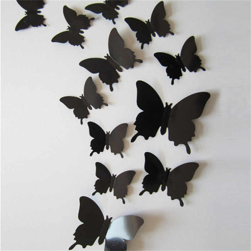 18X 3D mariposa pegatinas arte calcomanía de PVC mariposas decoración del ho/&js