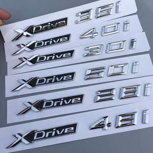 Image 5 - XDrive 20i 25i 28i 30i 35i 40i 48i 50i ABS 크롬 자동차 XDrive 엠블렘 트림 스티커 BMW X1 X3 X4 X5 X6 스타일링 로고 Repla