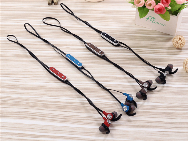 Sport Wireless Headphone Neckband Line-controlled Bluetooth Earphone with Microphone call volume control Headphone For Phone