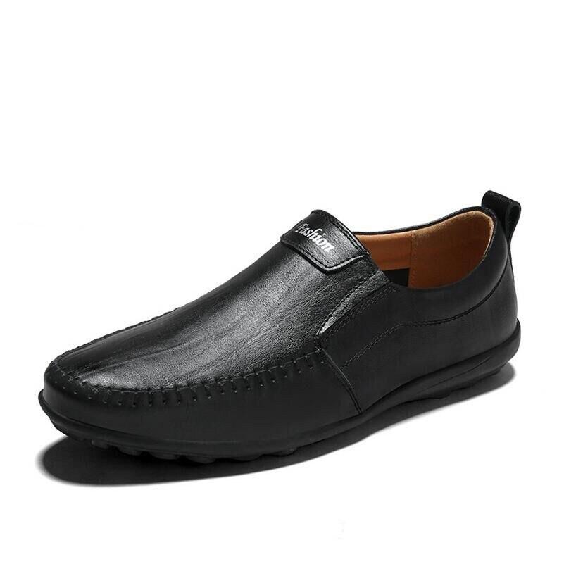 Модные мужские повседневные туфли из натуральной кожи; Брендовые мужские мокасины без застежки; кожаные лоферы; Летняя мужская обувь на